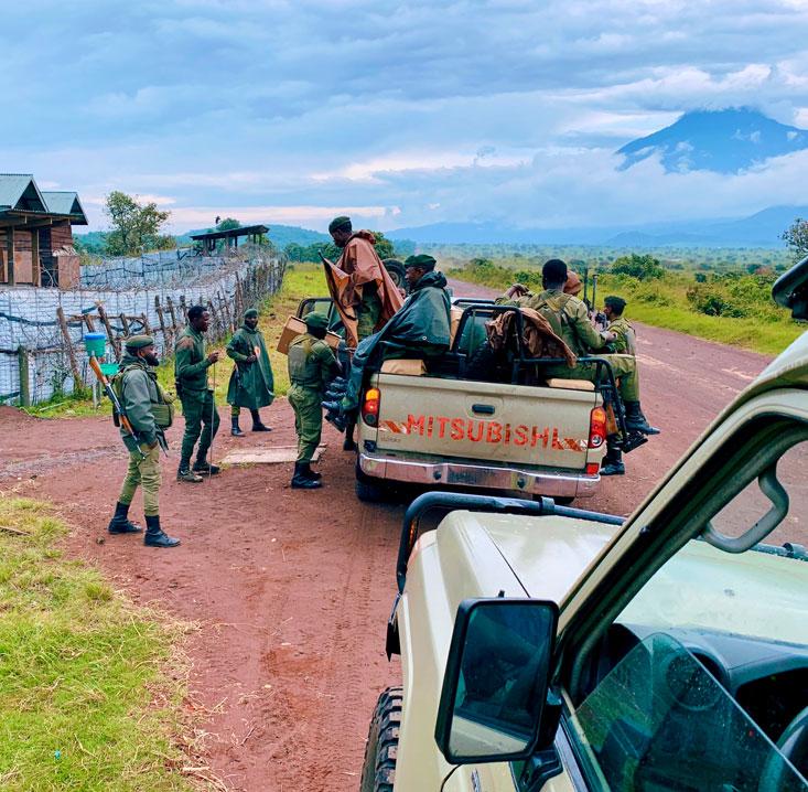 Base Camp Virunga Park Rangers DRC February 2020