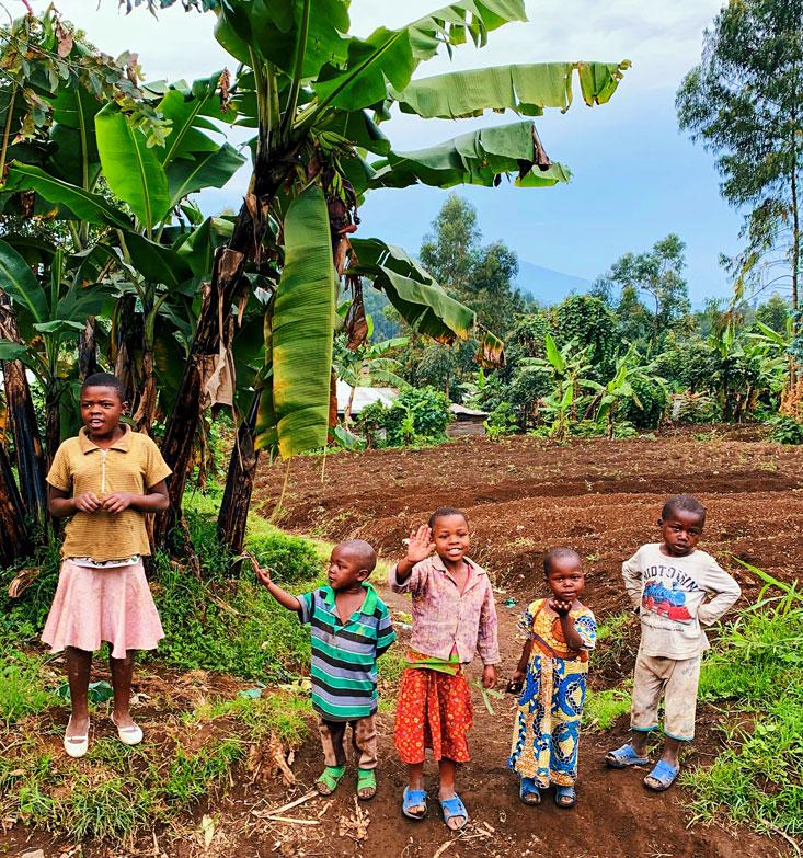 Kids near Buhumba Virunga National Park DRC February 2020