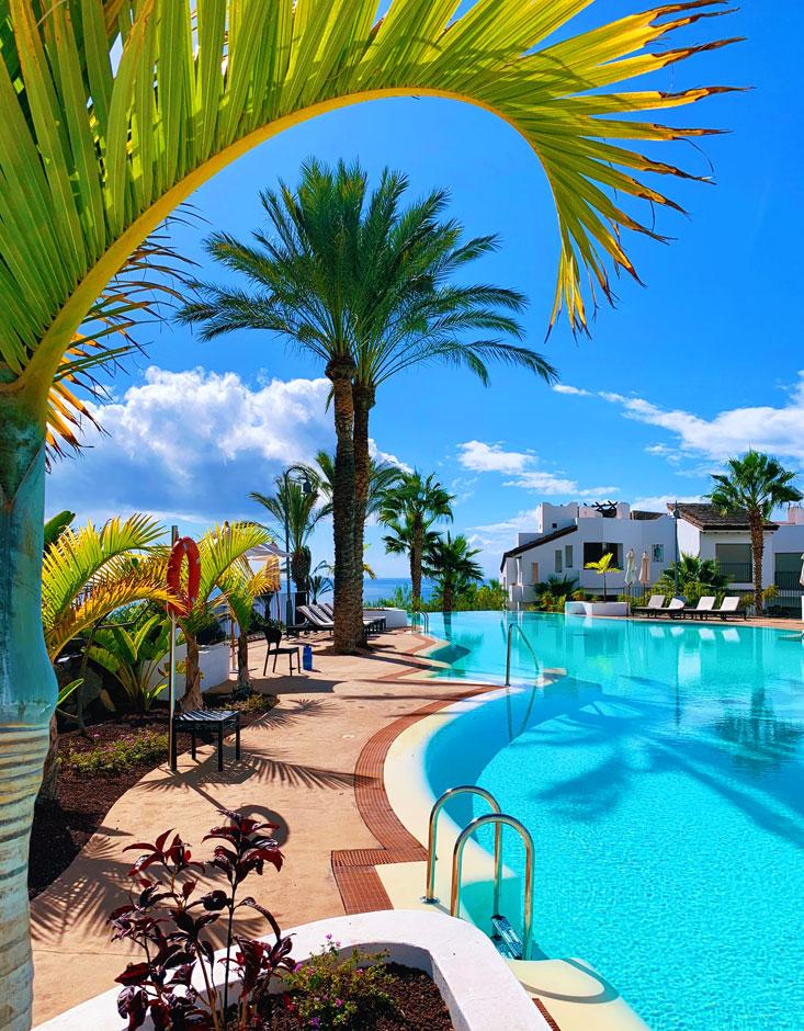 Pool at Las Terrazas de Abama Tenerife Nov 2020
