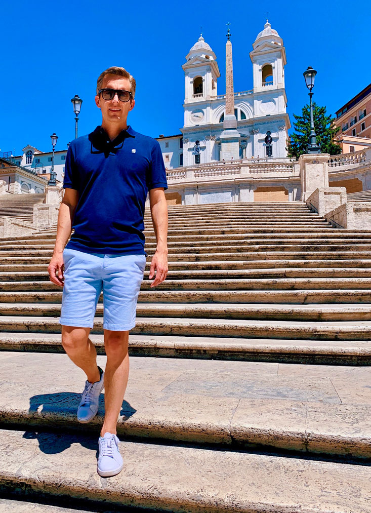 Spanish Steps Rome Bart Lapers July 2020