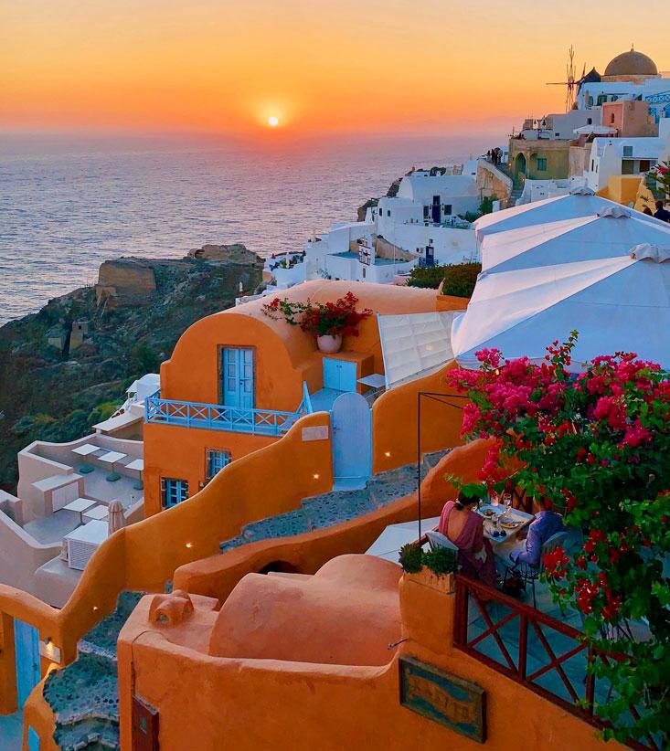 Sunset Santorini Dinner July 2020
